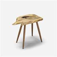 slab end table by george nakashima