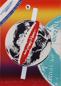 spinning faces in space by james rosenquist