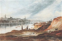 view of newcastle-upon-tyne from the banks of the tyne by thomas h. hair