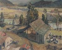 farming scene by bernard middleton