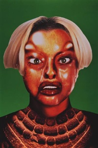 refiguration, self-hybridation, n°15 (from série précolombienne) by orlan