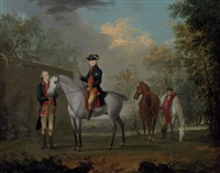 an equestrian portrait of his royal highness, edward augustus, duke of york and albany by david morier