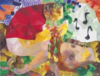 crapping, braiding and whistling by dana schutz