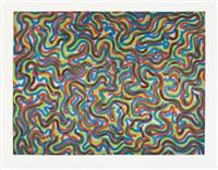 curvy brushstrokes/color by sol lewitt