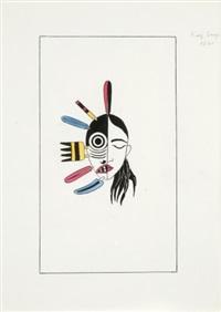une carte de jeux de tarot (study) by kay sage