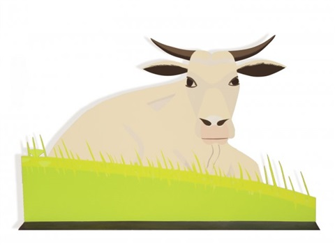 maine cow by alex katz