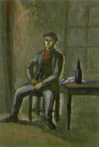 hombre en un café by manuel humbert