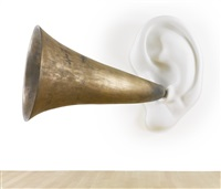 beethoven's trumpet (with ear) opus #135 by john baldessari