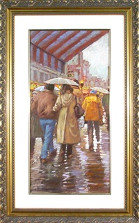 promenade sous la pluie by littorio del signore