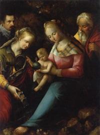 die heilige familie mit der heiligen katharina und einem adeligen stifter by chilian fabritius
