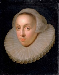 portrait of a lady in a lace collar and headdress by anglo-flemish school (18)