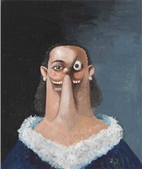 portrait of a noble woman by george condo