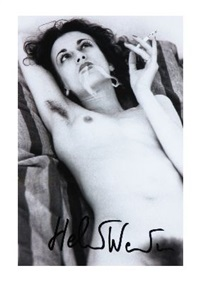 nude, violetta smoking, paris by helmut newton