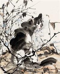 猫石图 by huang zhou