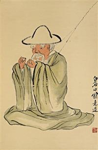 渔翁图 (seated fisherman) by qi baishi
