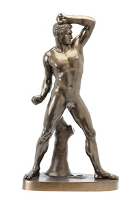 wrestlers (various sizes; 2 works) by benedetto boschetti