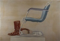 chair with boots by jurjen de haan