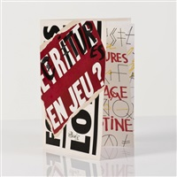 livre d'artiste by jacques villeglé