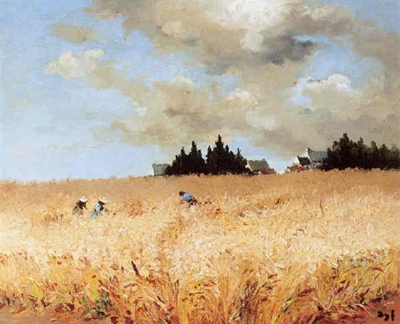 les moissoneurs dans les blés by marcel dyf