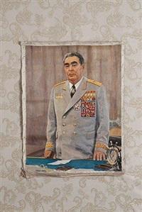 portrait de leonid brejnev médaillé by alexei pavelovich belykh