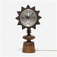 chess piece table clock, model 2251 by george nelson & associates