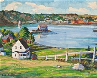 fishing village, nova scotia by earl bailly