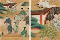 cinq scènes du conte takétori monogatari by japanese school-tosa (17)