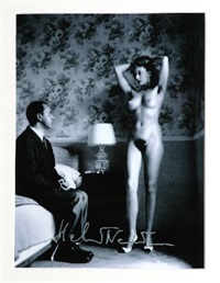 nude, in my hotel room, montecatini by helmut newton
