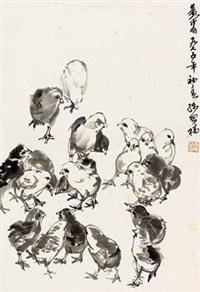 雏鸡图 by huang zhou