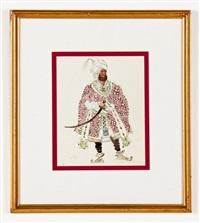portrait of man by leon bakst