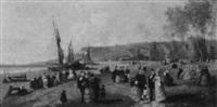 sur la plage by guillaume françois colson