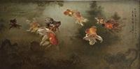 nine goldfish by lee man fong