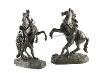 the marley horses (pair) by guillaume coustou the elder