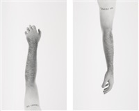 tattoo i (+ tattoo ii; 2 works) by douglas gordon