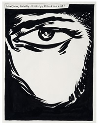 untitled (what was, morally speaking, behind her veil?) by raymond pettibon