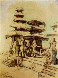 temple, bali by charles sayers