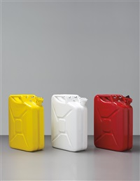 three works: (i) jerrycan (d); (ii) jerrycan (h), 2010; jerrycan (g), 2008 (three pressed) by adam mcewen