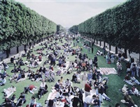 picnic allée (from landscape with figures) by massimo vitali