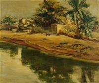 paysage d'afrique du nord by georges hanna sabbagh