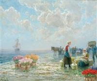 blumenmarkt am pier by h. m. gabriel