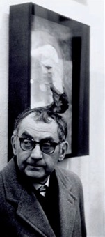 portrait de man ray by harry shunk