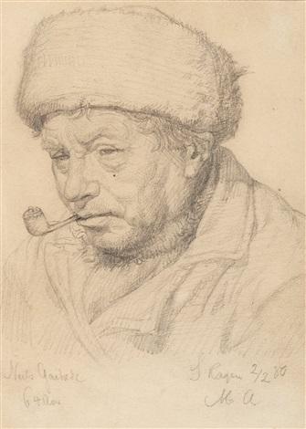 porträtt av niels gaihede (1816-1890) by michael peter ancher