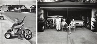 i don't feel that richie playing with guns will have a negative effect; our house is built with the living room in the back, 1972 (2 works) by bill owens