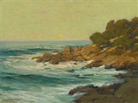 sunset light near monterey by charles partridge adams