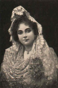 a lady wearing a mantilla by adolfo aguila acosta
