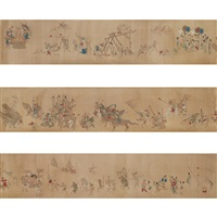 handscroll, folklore story by qiu ying