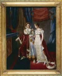 le mariage de l'empereur napoléon 1er et de l'impératrice marie-louise by auguste françois laby
