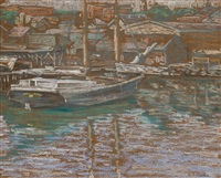 in gloucester harbor by charles salis kaelin