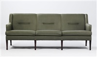 free-standing settee by frits henningsen