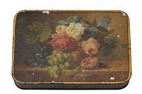 bloem en fruit stuk by arnoldus bloemers